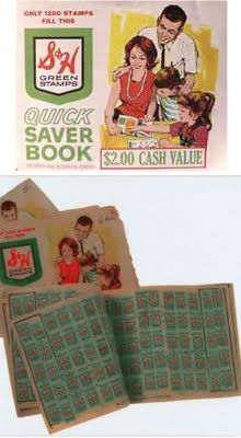 Got sooo many great things by collecting   S & H Green Stamps. Loved sticking them in the books and then looking through the catalog picking my next toy or maybe a awesome household item we will all excited about. When we finally had enough books full --- the trip to the S redemption center was like Christmas!!
