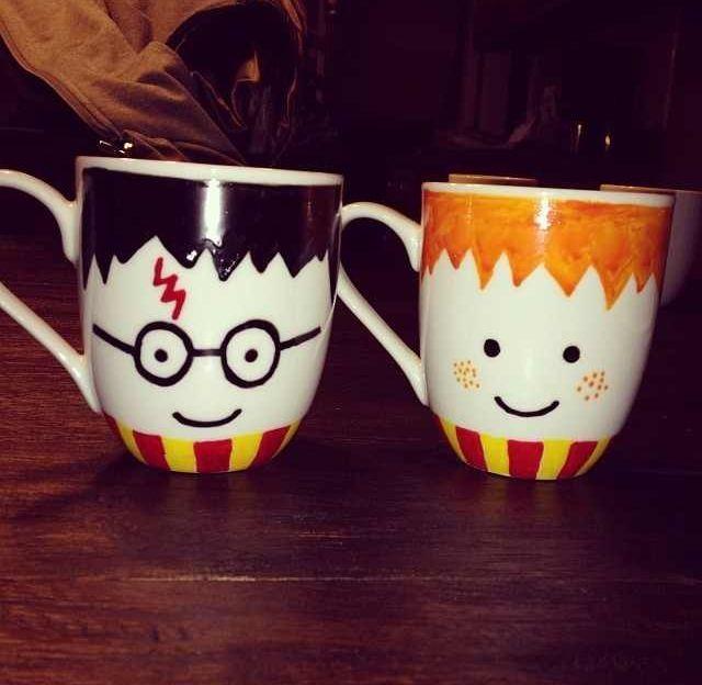 harry potter mugs bilder pinterest diy geschenke selber machen anleitungen und keramik. Black Bedroom Furniture Sets. Home Design Ideas