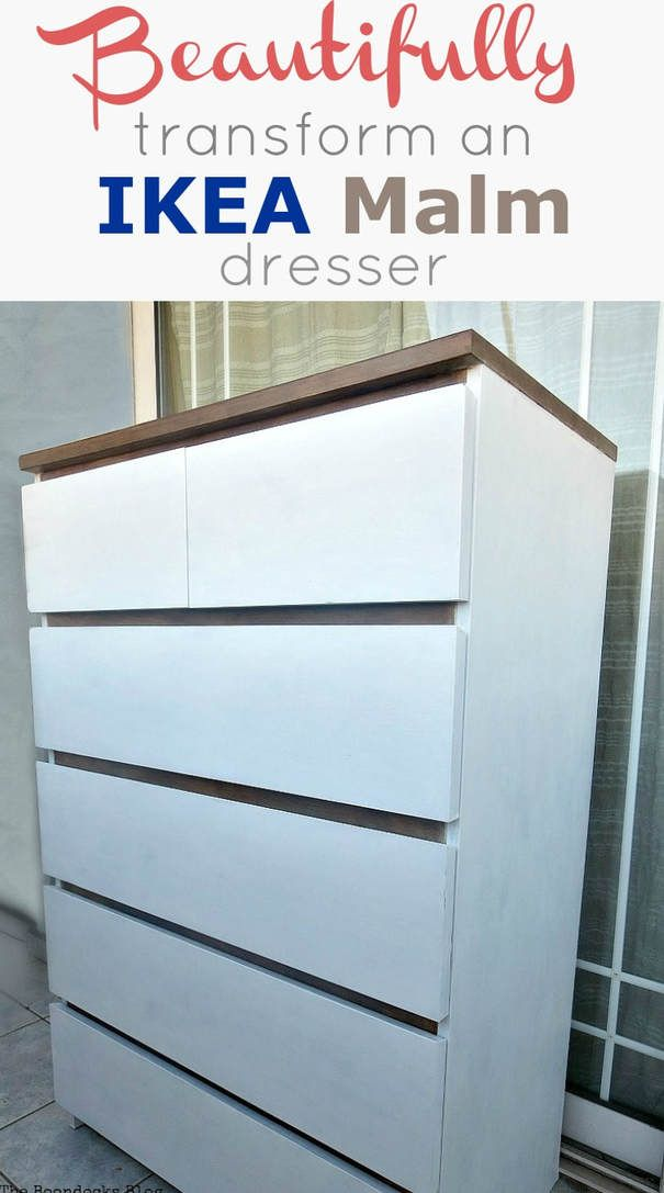 Ikea Malm Dresser Upcycle