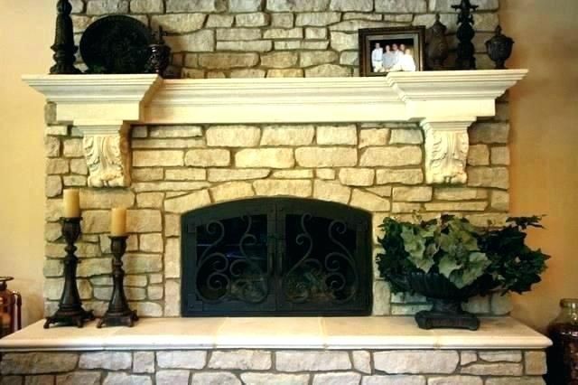 Indoor Stone Fireplaces Google Search Stacked Stone Fireplaces