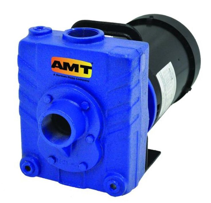 """AMT Pump 282C-95 Self-Priming Centrifugal Pump, Cast Iron, 1 HP, 1 Phase, 115/230V, Curve B, 1-1/2"""" NPT Female Suction & Discharge Ports - Brought to you by Avarsha.com"""