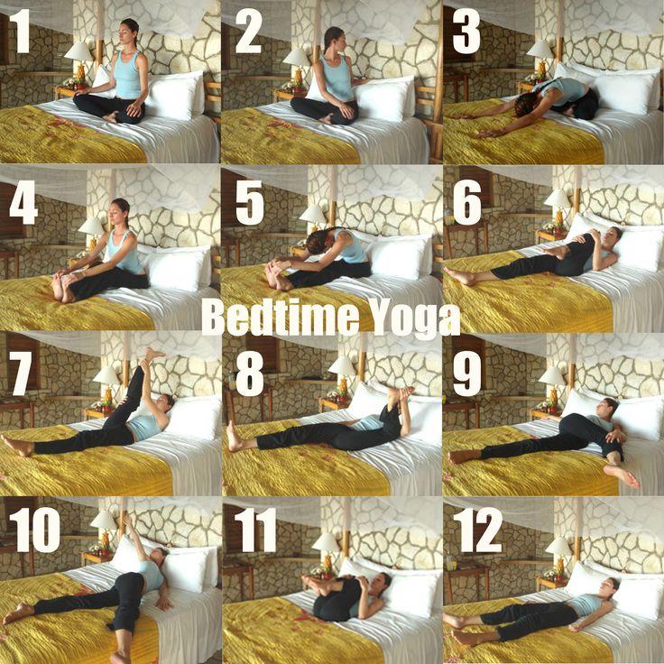 Petite séance de yoga à faire... dans le lit ! Bedtime yoga or wake up yoga!