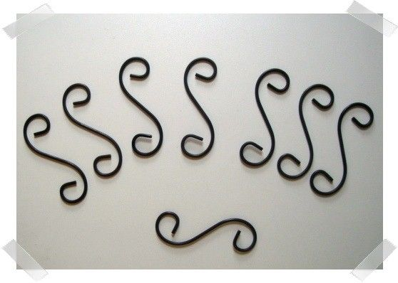Thick Metal Wire S-Hooks/Set of 8 /Craft Supplies   Metals ...
