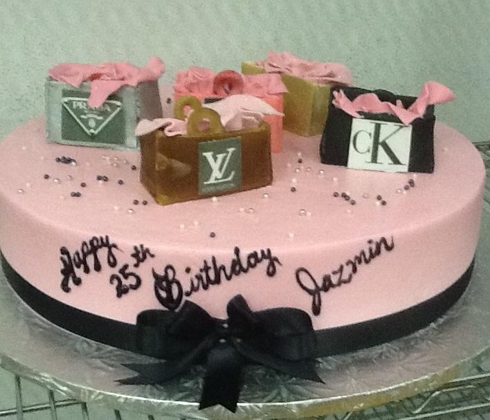 Calumet Bakery  Buttercream Cake with Fondant Shopping Bags