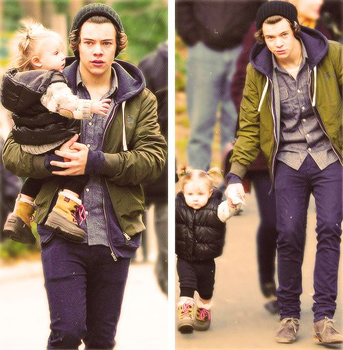 The relationship they have is probably the most precious thing in the entire world. World famous Harry Styles and Lux have been best friends since even before she was born. From the second Lux arrived, Harry was there to be with her. The way Lux loves Harry is important, she loves him not because he is famous or talented she doesn't know that, but they genuinely love each other. Lux just knows that Harry likes to play with her and take her swimming and sometimes plays with her scooter.