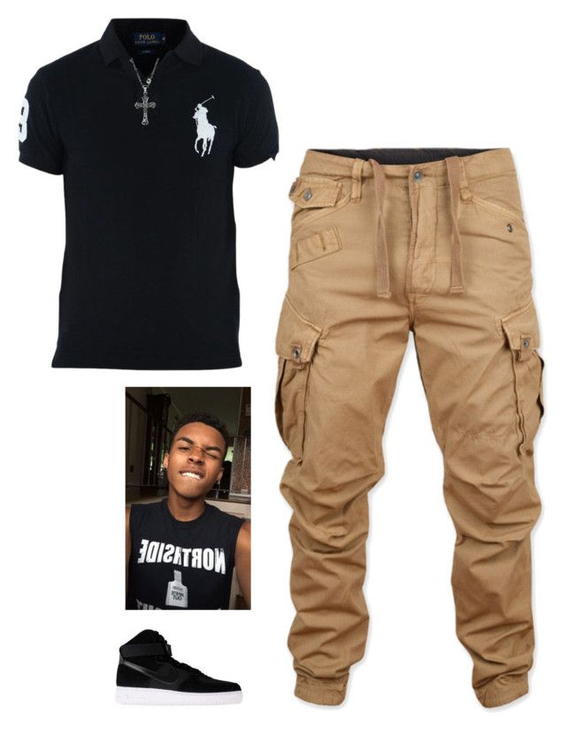 """Untitled #394"" by keonnabrownoffical on Polyvore featuring G-Star Raw, Ralph Lauren, Silver Expressions by LArocks, NIKE, men's fashion and menswear"