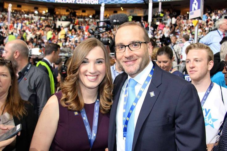 HRC Press Secretary Sarah McBride and HRC President Chad Griffin.