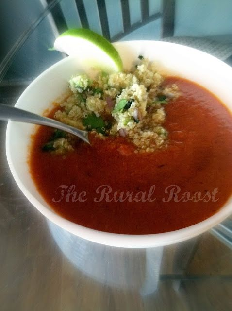 Roasted Red Bell Pepper Soup with a Quinoa Salsa | The Rural Roost ...