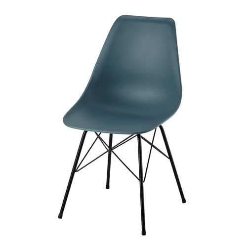 Chaise en polypropylène et métal bleue