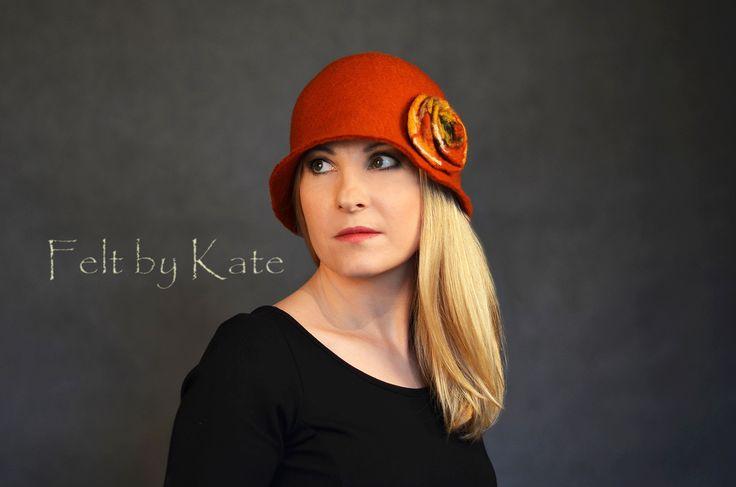 """Merino wool wet felted hat by Katarzyna Milczarek """"Felt by Kate"""" https://www.facebook.com/FeltbyKate/"""