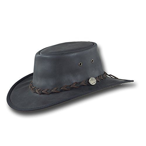 Barmah Hats Foldaway Mustang Leather Hat 1080BR   1080BL   1080HI - Black - Xlarge Men's Fashion >>> Be sure to check out this awesome product.