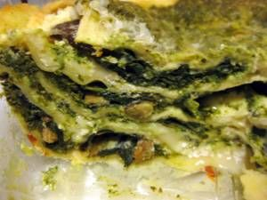 Wild Mushroom and Spinach Lasagna | Recipe