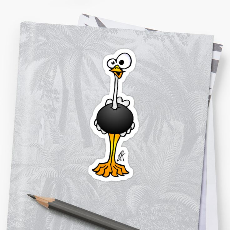 Ostrich sticker.    #ostrich #sticker #Redbubble #Cardvibes #Tekenaartje #SOLD    Also buy this artwork on stickers, apparel, phone cases, and more.