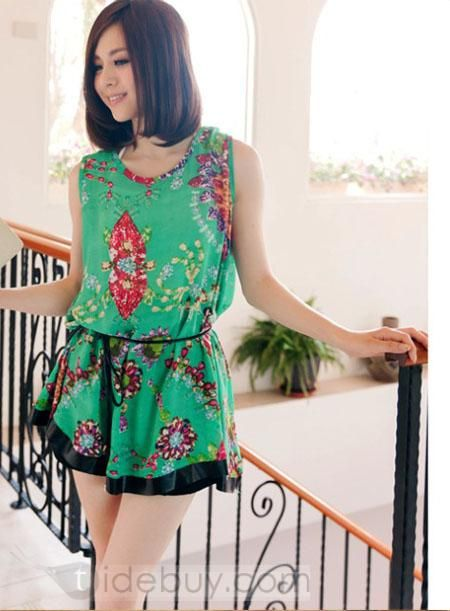 ラブリースプリットシフォン革物美しいスカート