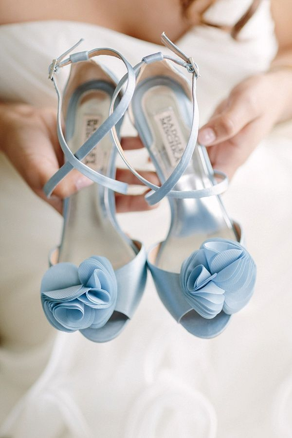 Serenity Blue Bridal Shoes | David Abel Wedding Photography on @tidewatertulle via @aislesociety