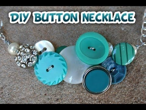 Button Necklace DIY- Whitney Sews This is super cute!  I don't wear much jewelry, but might make a couple anyway