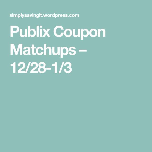 Publix Coupon Matchups – 12/28-1/3