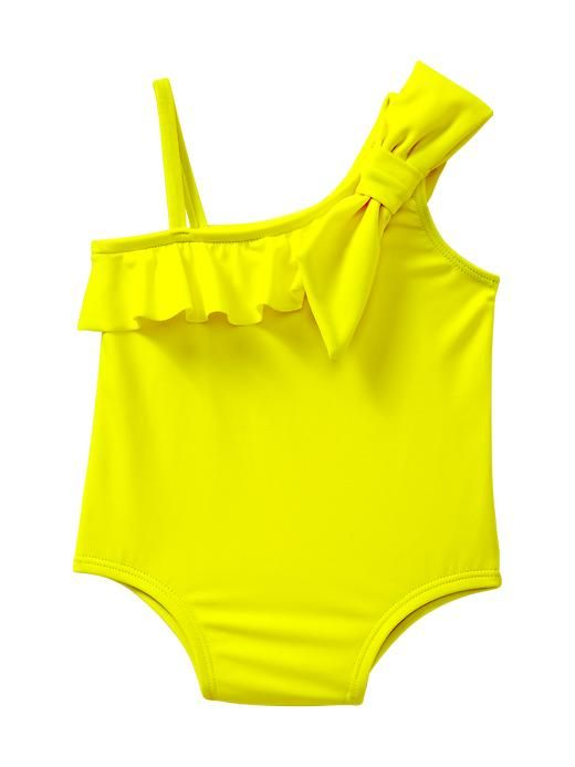 Gap | Neon asymmetrical bow one-piece