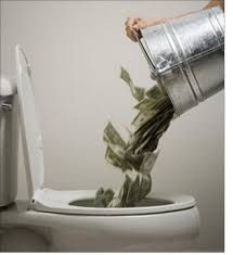Throwing money down the toilet due to high interest on your accounts? It can happen especially when your credit is not as strong as it should be. #credit http://getgr8tcreditvip.com/