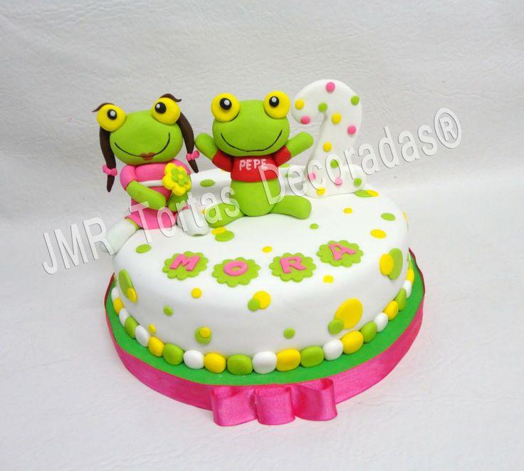 Sapo pepe y sapa pepa cake