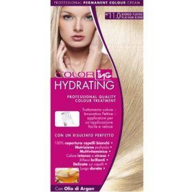 ING Βαφή Σετ Hydrating No 11.0 Ξανθό Πλατινέ Μόνιμη βαφή μαλλιών σε σετ. Προστατεύει και ενυδατώνει την τρίχα ενώ έχει χαμηλό ποσοστό αμμωνίας. Καλύπτει τέλεια τα λευκά μαλλιά και χαρίζει πλούσιο, βαθύ χρώμα που διαρκεί. Η συσκευασία περιέχει δυο στόμια, ένα απλό και ένα καινοτομικό στόμιο-χτένα για να επιλέξετε αυτό που σας εξυπηρετεί καλύτερα. Επιπλέον περιέχει ενυδατικό λάδι ARGAN για βαθιά ενυδάτωση και λάμψη μετά την βαφή. Τιμή €4.90
