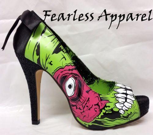 Iron-Fist-Zumbi-Stomper-Verde-Walker-Arco-Plataforma-saltos-WOMENS-sapatos-5-11