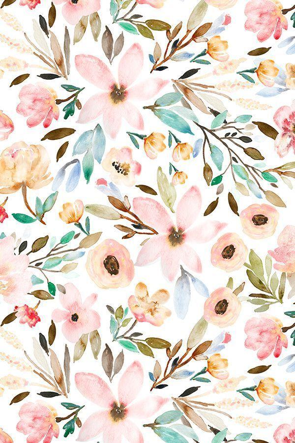 Aquarellblumenmuster von indybloomdesign #floral #…