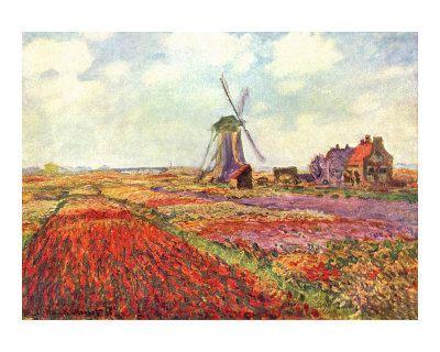 "Claude Monet, ""Tulips in Holland"""