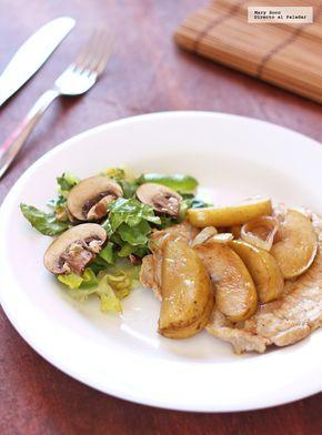 Receta de filetes de lomo de cerdo con manzana. Con fotografías paso a paso, consejos y sugerencias de degustación. Recetas fáciles de carne de cerdo