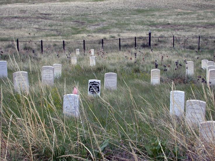 Last Stand Hill, Little Bighorn Battlefield  frontiertraveler.com: Native American Indian