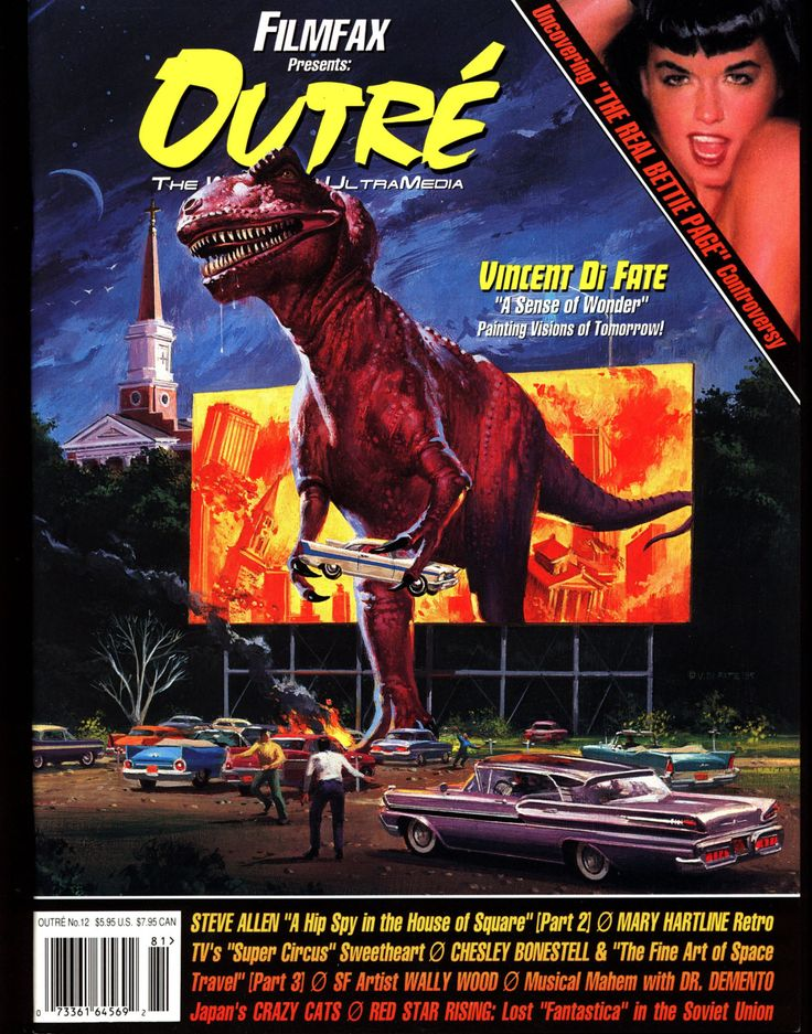 OUTRE 12 CULT TV Film Television Bettie Page,PinUps,Wally Wood,Chesley Bonestell,Soviet S F Movies,Vincent Di Fate,Steve Allen,Lenny Bruce