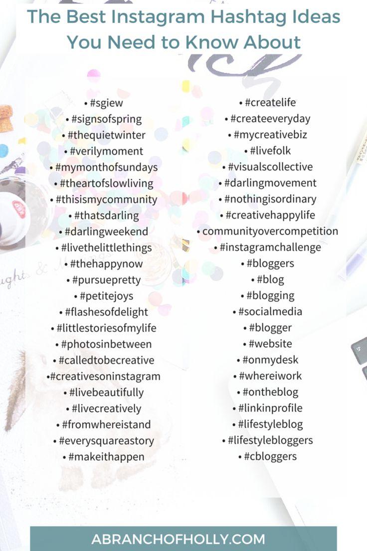 Best 25 Best Instagram Hashtags Ideas On Pinterest