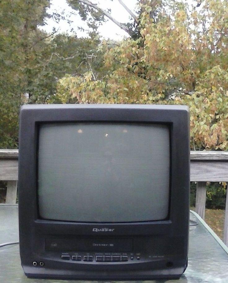 "Quasar VV-1302 13"" CRT FATHER'S DAY TV/VCR COMBO TELEVISION * VHS * ENERGY SAVER #Quasar"