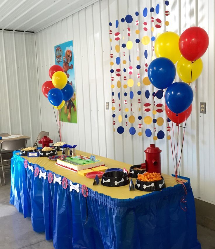 Paw patrol birthday party decorations from little michael for 7p decoration