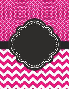 Moroccan and Chevron Binder Cover ~ Two Versions both Black and PinkI love cute binder covers.  You can add a label to it or write on it.  Use a silver sharpie on black!  If you decide to download this free product, please take a moment to leave feedback.