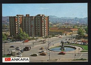 Ankara Tandoğan Meydanı Kartpostalı (1970'ler)