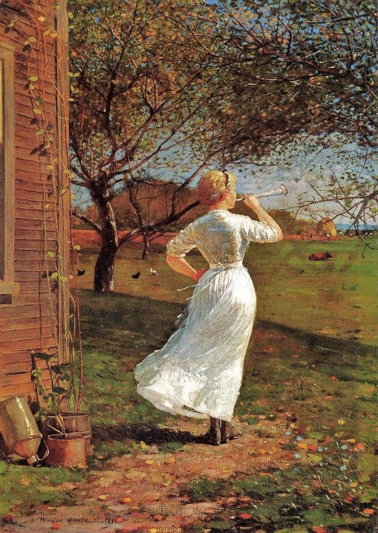 Winslow Homer | The Dinner Horn | In the late 1860s, Homer turned to life in…