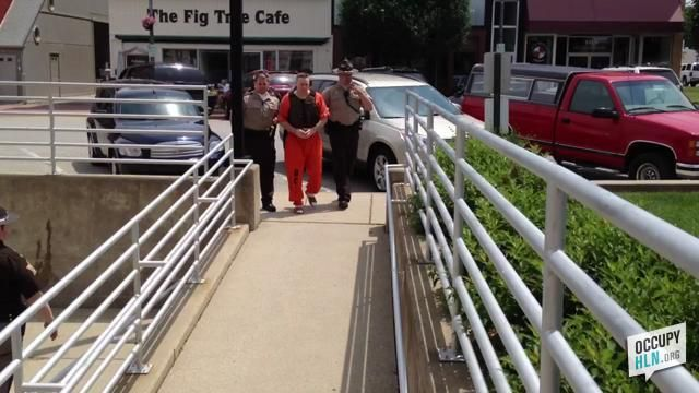 David Camm is escorted to court in a bullet-proof vest by guards  http://www.occupyhln.org/other-cases/david-camm-found-guilty-3rd-trial/