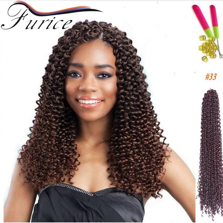 Freetress Crochet Braiding Hair 18inch 90g Curly Hair Weaves Freetress Curly Crochet Braids Hair Water Wave Synthetic Twist Hair