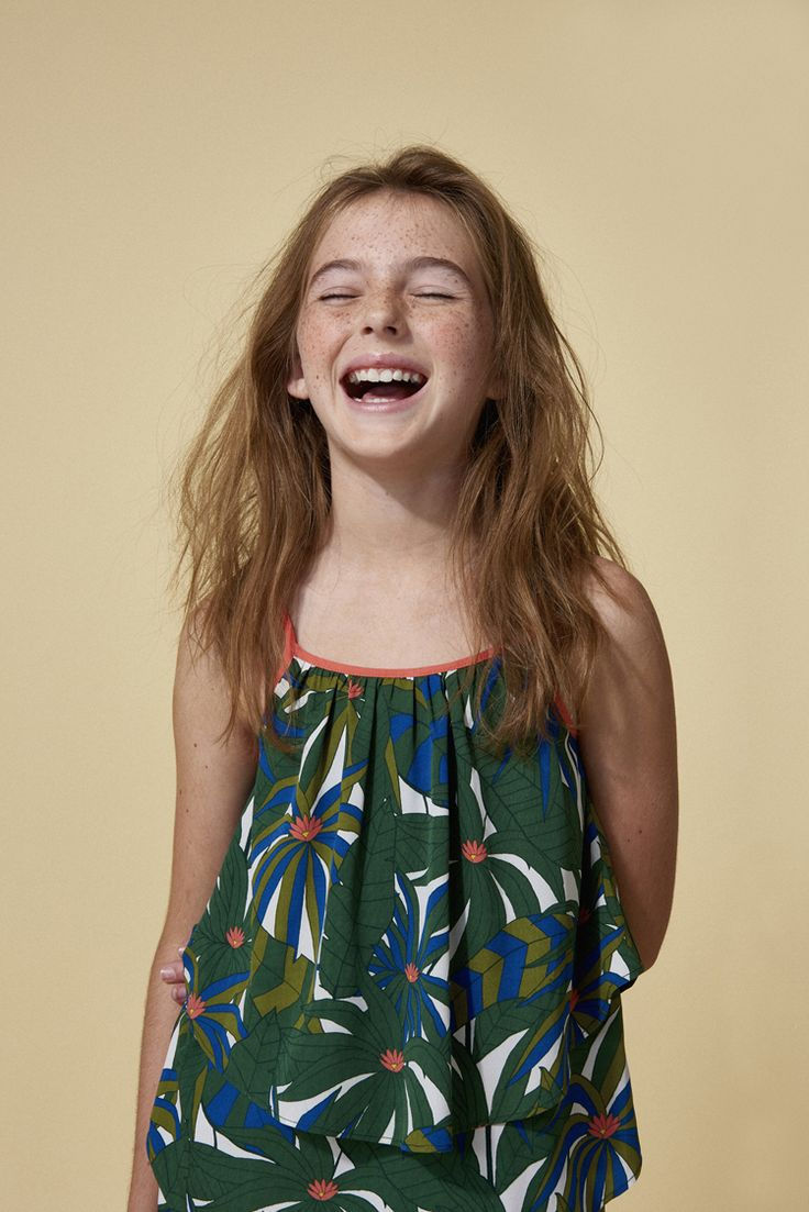 Tropical jungle print for girlswear summer 2016 by Little Marc Jacobs at House of Fraser now