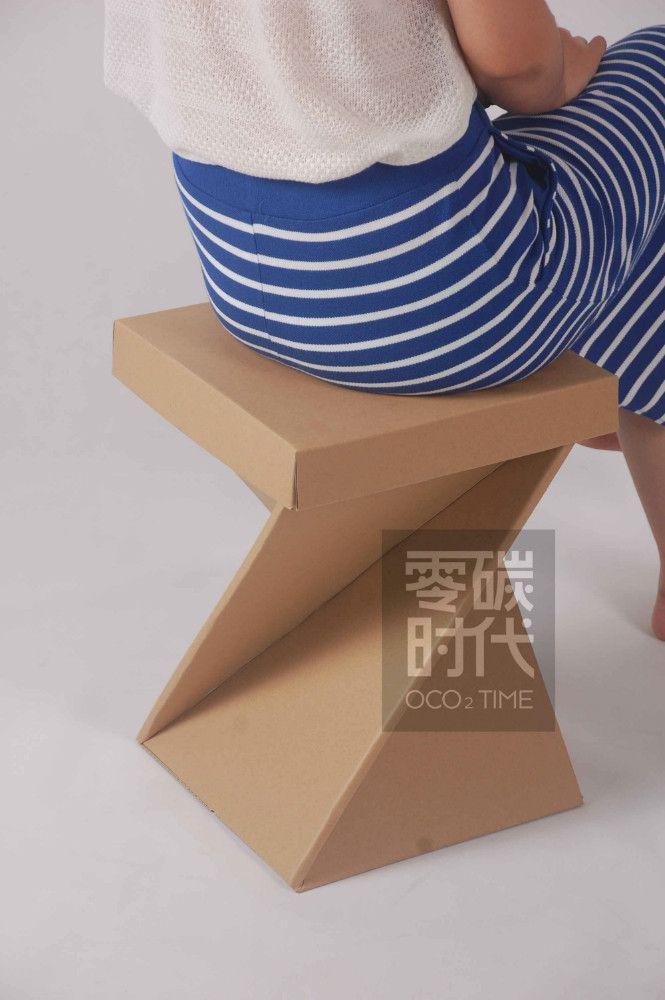 2015 venda quente boa capacidade da caixa do banco/cadeira de móveis de papelão ondulado papel