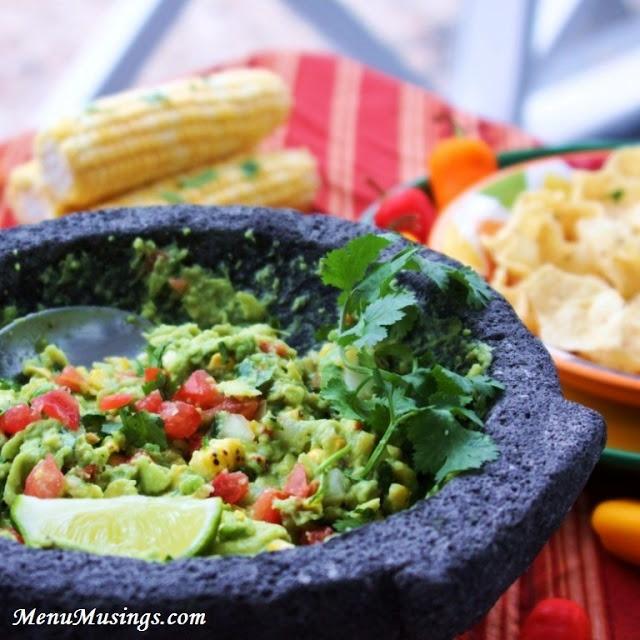 Fire Roasted Corn Guacamole | v e g a n | Pinterest