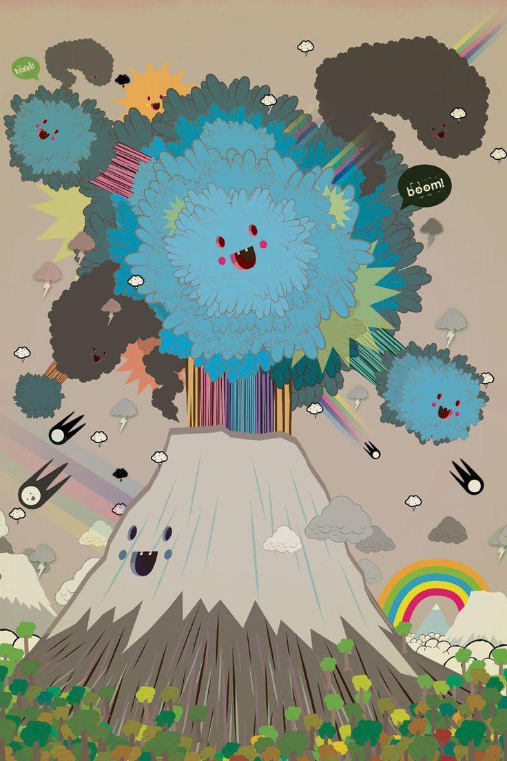 volcano illustration - Sök på Google