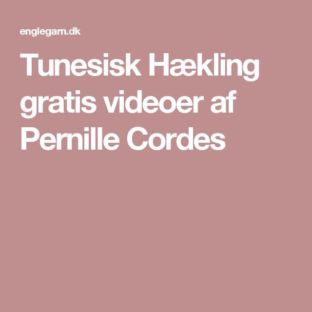 Tunesisk Hækling gratis videoer af Pernille Cordes