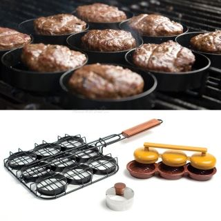 3-in-1 Sliders Grill Basket, Bun Cutter, and Mini Burgers Press, from HomeWetBar.com