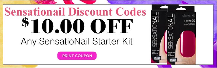 10% Off Everything, Site Wide At Sensationail Added Wednesday 26th December 2012, Expires Monday 30th December 2013 Use this voucher code at checkout and you'll get 10% OFF the total priceThat's 10% off everything, site wide (Does not include shipping costs) http://www.vouchercodesuae.com/sensationail.co.uk