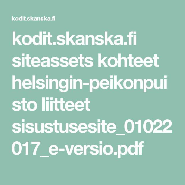 kodit.skanska.fi siteassets kohteet helsingin-peikonpuisto liitteet sisustusesite_01022017_e-versio.pdf