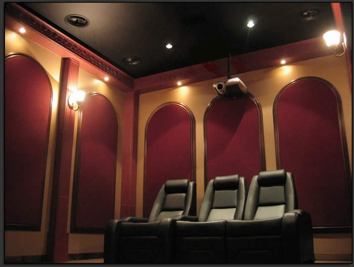 Home Theater Wall Panels 112 best home theaters images on pinterest | wall sconces