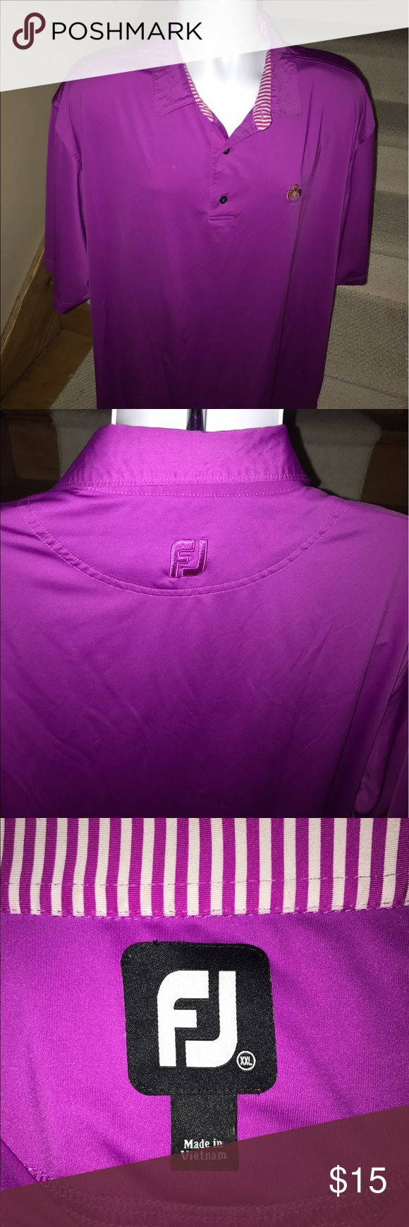 FJ FootJoy wicking bright golf polo shirt - men XL Stunning men's FootJoy wicking casual golf polo shirt that is sized XL.  Made out of a stretchy blend of polyester and spandex.  Absolutely perfect mint condition.  You will love it. FootJoy Shirts Polos