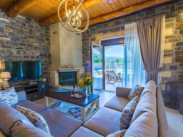 Foinikas villa rental - The interior of the residence creates a cozy atmosphere!